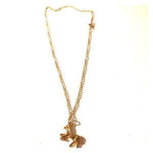 Jewelry - Gold Horse Charm Necklace